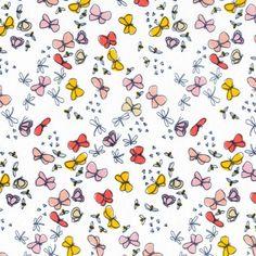 "Poplin-45""-Butterflies Pink"
