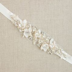 Wedding belt Bridal belt Wedding dress belts sashes by LeFlowers