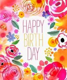 Birth Day QUOTATION – Image : Quotes about Birthday – Description pink_yellow_border_blooms_01 Sharing is Caring – Hey can you Share this Quote !