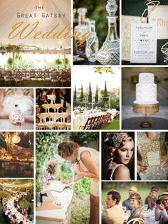 Great Gatsby Wedding Inspiration - Brossie Belle