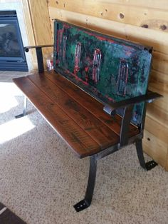 Old Ford Tailgate Bench- My first one and many more to come! As long as I can sell them...