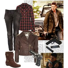 1. Dean Winchester for Supernatural challenge, created by greeneyeddemon on Polyvore