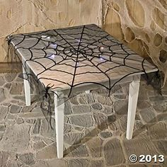 Spiderweb Flocked Table Cover - Oriental Trading
