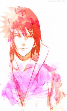 Naruto. Sasuke Uchiha. Sasuke actually looks somewhat normal in this picture.