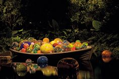 Dale Chihuly Float Boat, 2007 3 x 22.5 x 18.5' Phipps Conservatory and Botanical Gardens, Pittsburgh, Pennsylvania