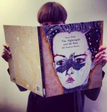 The Nightingale & the Rose Del Kathryn Barton, Nightingale, Oscar Wilde, Museum Of Modern Art, Lovers Art, Branding Design, Graphic Design, Writing, Store