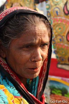 A woman at a market in Dhaka, Bangladesh.