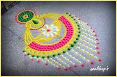 Rangoli Patterns, Rangoli Ideas, Rangoli Designs Diwali, Rangoli Designs Images, Kolam Rangoli, Flower Rangoli, Beautiful Rangoli Designs, Diwali Decorations, Festival Decorations