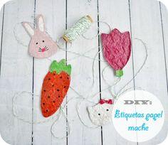 Niña Bonita: DIY: Etiquetas de papel mache #empqtdbonito