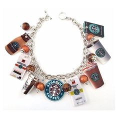 Starbucks Charm Bracelet by KarinaMadeThis on Etsy | Cool Stuff |... ❤ liked on Polyvore