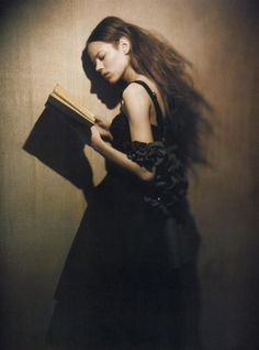 """Freja Beha Erichsen. Photograph by Paolo Roversi (b. 1947) 'A Woman of Singular Charm' for Vogue Italia, November 2007. """"I have a very mystic and spiritual approach to photography, which I can't explain... I like to keep things unrevealed, I like sometimes to lose myself into the indefinite. That often happens to me along the path of beauty, without every truly understanding where to proceed, and the further I manage to see, the  deeper the mystery becomes."""" — Paolo Roversi"""