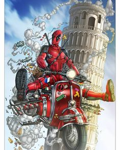 Deadpool proves insanity has no borders. Marvel Dc Comics, Marvel Heroes, Comic Books Art, Comic Art, X Men, Thor, Captain America, Hulk, Deadpool Art