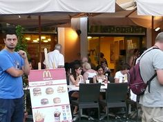 McDonalds, Rome, Italy. Okay, McDonalds is not magical per se. But the McDonalds in downtown Rome is amazing. Ancient architecture, famous landmarks and BAM! McDonalds! But classy-like.