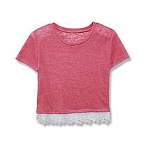Canyon River Blues Girl's Short-Sleeve Cropped Sweater