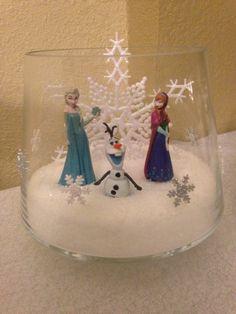 Disney Frozen Elsa, Olaf, Anna table centerpiece