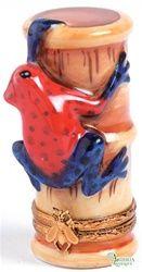 Strawberry Poison Dart Frog, Limoges box