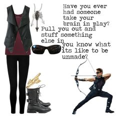 """""""Hawkeye Inspired Outfit"""" by elizabeth-horan-i ❤ liked on Polyvore featuring True Religion, maurices, Jade Jagger, Bling Jewelry and STELLA McCARTNEY"""