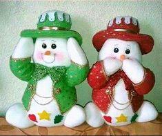 Resultado De Imagen Para Nieves Christmas Makes, Christmas Snowman, Christmas Time, Christmas Wreaths, Christmas Decorations, Christmas Ornaments, Snowman Party, Snowman Crafts, Snowman Ornaments