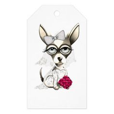 #Bride Chihuahua Gift Tags - #chihuahua #puppy #dog #dogs #pet #pets #cute