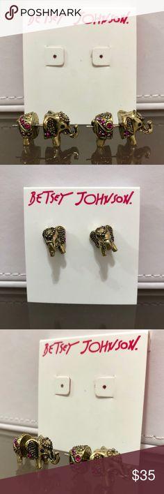 Betsey Johnson Vintage Bronze Elephant Earrings Betsey Johnson Vintage Fuchsia Pink Crystal Studded Bronze Elephant Earrings  These earrings are vintage, original rare Betsey Johnson earrings !  ❌NO TRADING  🥇POSH AMBASSADOR  📦FAST SHIPPER 🔝 RATED SELLER  🔝10% SELLER🏆 💌TAKE A LOOK AT MY FEEDBACK Betsey Johnson Jewelry Earrings