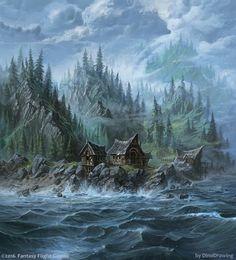 Bear Island by Dinodrawing (Sergey Glushakov for FFG)