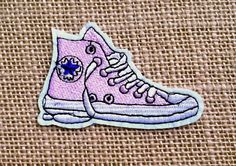 1f804060ef8a Converse Patches Iron On Patch for Jackets and Backpacks. Punk Pink Shoe  Patch. Size  3