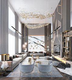 Luxury Homes Interior, Luxury Home Decor, Luxury Apartments, Modern Interior, Home Room Design, Dream Home Design, Modern House Design, Interior Design Living Room, Living Room Designs