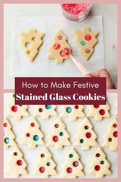 holiday cookies These stained glass sugar will literally sparkle and shine during the holiday season. Made from a classic sugar cookie dough and a handful of hard candies, theyre easy to whip together, too! Christmas Cookies Kids, Xmas Cookies, Christmas Sweets, Christmas Cooking, Noel Christmas, Holiday Desserts, Holiday Baking, Holiday Treats, Holiday Recipes