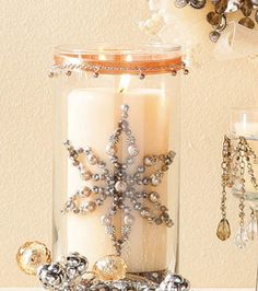 Beaded CylinderGlass Candle Holders & Candle : Seasonal Projects: Winter :  Shop | Joann.com