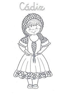 Mi Mundo Infantil: TRAJES TÍPICOS ANDALUCES Malaga, Coloring Pages, Spanish, Disney Characters, Vintage, Kindergarten, Ideas Para, Ss, English