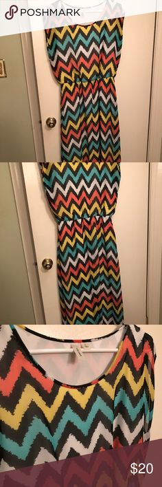 Maxi Dress size L Sleeveless maxi dress perfect for spring-fall!  100% polyester Dresses Maxi