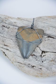Megalodon Shark Tooth Pendant by JustBeadHappy2 on Etsy https://www.etsy.com/listing/218457743/megalodon-shark-tooth-pendant
