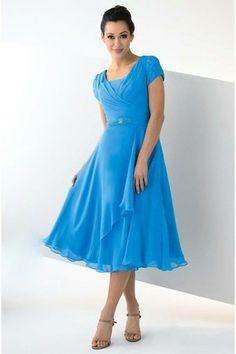 Reißverschluss Chiffon Mittelgröße Falte Mieder Perlen kurze Ärmel Karree Homecoming Kleid