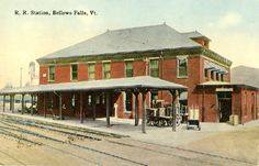 Railroad Station, Bellows Falls, VT early 1900s
