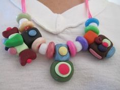 Funky sculpey beads