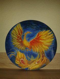 Bird Vögel Жар - птица. Acrylic.