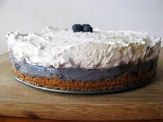 Blueberry Cheesecake Pudding Pie