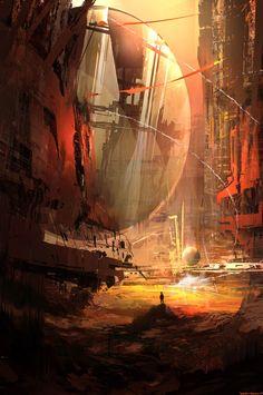 Mars    (January work), Wadim Kashin on ArtStation at https://www.artstation.com/artwork/mars-january-work