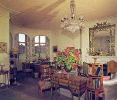 Queen Elizabeth II's private sitting room, Sandringham House, Norfolk, England, UK