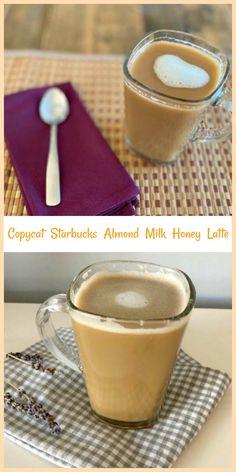 Copycat Starbucks Almond Milk Honey Latte - This new hot beverage from Starbucks is a winner! Starbucks Strawberry, Starbucks Vanilla, Starbucks Caramel, Starbucks Pumpkin, Almond Milk Latte, Honey Almonds, Feel Good Food, Tea Latte, Milk And Honey