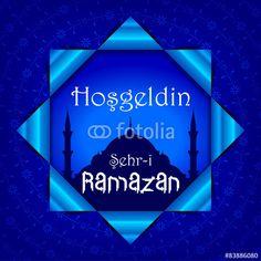 Vektör: Hoşgeldin Şehr-i Ramazan