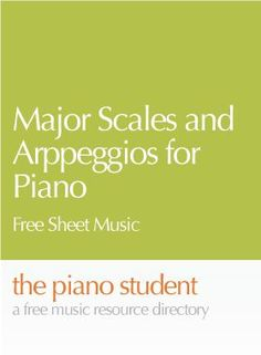 Major Scales and Arpeggios for Piano | Free Sheet Music (PDF) - https://thepianostudent.wordpress.com/2009/03/17/free-sheet-music-major-scales-and-arppeggios/