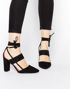 Truffle Collection.  #black #heels #shoes #affordable
