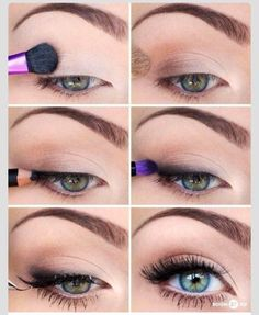Natural | Eye Makeup | Beauty | Tutorial | How To | Natural Looking Enhanced Eyes | No Link Just Idea