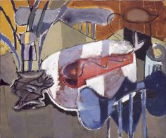 Patrick Heron Still-Life with Red Fish : 1948 oil on canvas 25 x 30 in… Patrick Heron, Painting Collage, Painting Still Life, Red Fish, Drawing, Artist At Work, Abstract Art, Abstract Paintings, Oil On Canvas