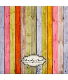 Rainbow Wood Backdrop  Spring & Easter