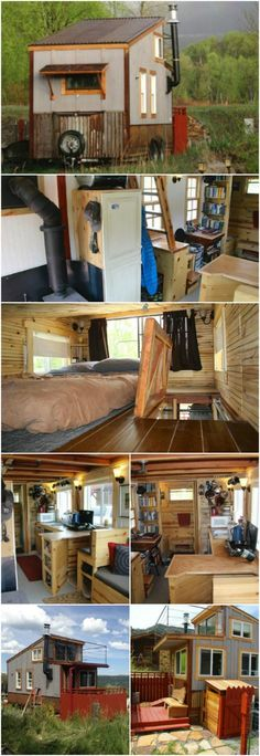"""Colorado Man Builds and Sells His First 270SF Tiny Home for $29,000 - Jeremy Matlock lives in beautiful Colorado and was recently bit by the tiny living """"bug"""" so in 2014 he started building his first tiny house which he called The Clearstory. The 270-square foot house was his home for two years and then he decided it was time for his next build so he sold the Clearstory for $29,000."""