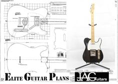 Full size plan to build a Telecaster Electric Guitar