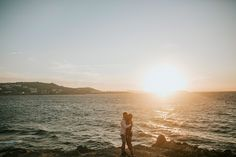 Engagement in Mykonos Mykonos, Wedding Engagement, Celestial, Sunset, Outdoor, Outdoors, Sunsets, Outdoor Games, The Great Outdoors