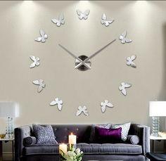 3D-nástenné-hodiny- na-stenu-zrkadlove-hodiny